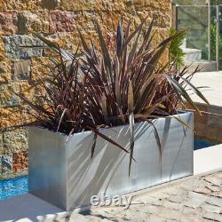 Zinc Metal Black Planter Plant Trough Garden Outdoor Large Rectangular Indoor